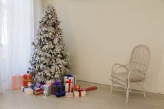 Christmas Interior holidays gifts winter new year backgrounds stock photos