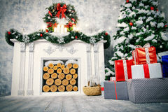 Christmas interior Royalty Free Stock Images