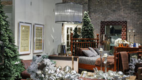 Christmas interior in luxuty Dubai Mall. Stock Images
