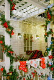 Christmas interior on the terrace of the house Royalty Free Stock Photo