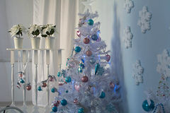 Christmas interior. Christmas tree Christmas tree, Christmas interior decoration Stock Photos