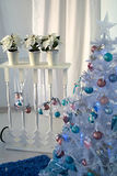 Christmas interior. Christmas tree Christmas tree, Christmas interior decoration Royalty Free Stock Images