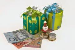 Christmas Investment, Australian Dollor Stock Image