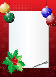 Christmas invitation background vector illustration
