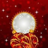 Christmas invitation with balls Stock Photography