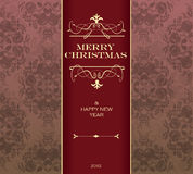 Christmas invitation card. Royalty Free Stock Images