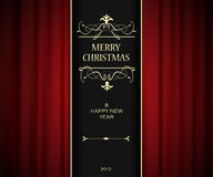 Christmas invitation card. Royalty Free Stock Image