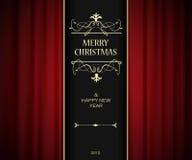 Christmas invitation card. Royalty Free Stock Image