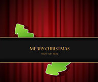 Christmas invitation card. Stock Image