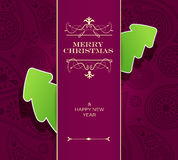 Christmas invitation card. Royalty Free Stock Photography