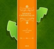 Christmas invitation card. Stock Photo