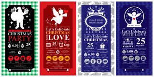 Christmas Invitation Card Stock Photography