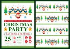 Christmas invitation card Stock Photo