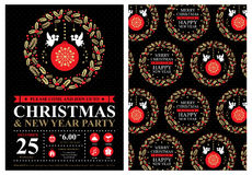 Christmas invitation card Stock Images