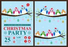 Christmas invitation card Stock Photos