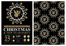 Christmas invitation card Royalty Free Stock Images
