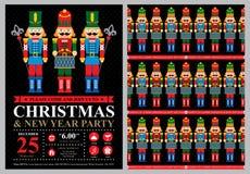 Christmas invitation card Royalty Free Stock Photos