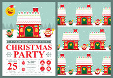 Christmas invitation card Stock Photo