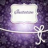 Christmas invitation card Royalty Free Stock Image
