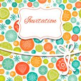 Christmas invitation card Royalty Free Stock Photography