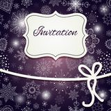 Christmas invitation card Royalty Free Stock Photo