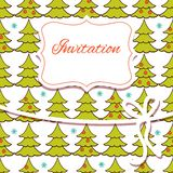 Christmas invitation card Stock Image