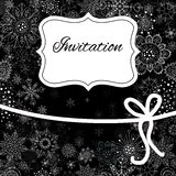 Christmas invitation card Stock Photos