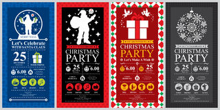 Christmas Invitation Card sets Stock Photo