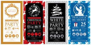 Christmas Invitation Card sets Stock Image