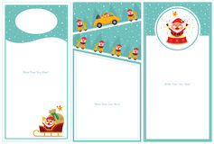 Christmas invitation card sets Stock Images