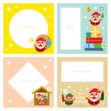 Christmas invitation card sets Stock Photography