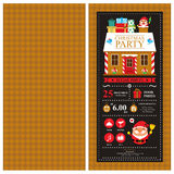 Christmas invitation card template Royalty Free Stock Images