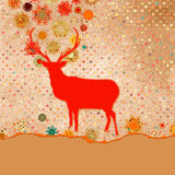Christmas Invitation card template. EPS 8 Stock Image