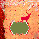 Christmas Invitation card template. EPS 8 Royalty Free Stock Photos