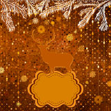 Christmas Invitation card template. EPS 8 Stock Image