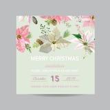 Christmas Invitation Card Stock Image