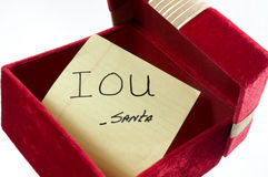 Christmas IOU stock images