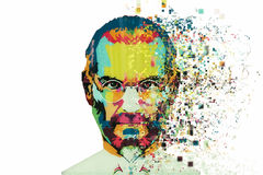 Christmas Island, Australia, August 8, 2017: an illustration in the art style in the form of a mosaic Steve Jobs. A talented person and the founder of the royalty free stock photos