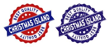 Christmas Island Best Quality Stamp with Dirty Surface vector illustration