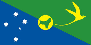 Christmas Island flag Royalty Free Stock Photography