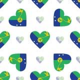 Christmas Island flag patriotic seamless pattern. Stock Photo