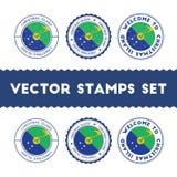 Christmas Island flag rubber stamps set. royalty free illustration