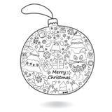 Christmas  isolated ball. Vector illustration Royalty Free Stock Photos