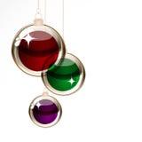 Christmas isolated balls Stock Photos