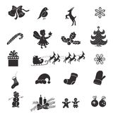 Christmas isolated icons on a white background Stock Photo