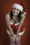 Christmas isolated woman Royalty Free Stock Images