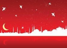 Christmas in istanbul stock illustration