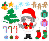 Christmas item party. Cute items for print and decorate on Christmas party Royalty Free Stock Photos