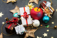 Christmas items Royalty Free Stock Images