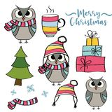 Christmas items collection stock illustration